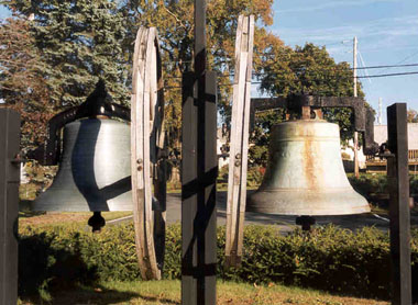 The two bells at Church of the Covenant, Averill Park, NY. Click on the image for a larger version.