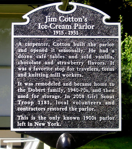 Historical marker for Cotton House; click on the image to enlarge.