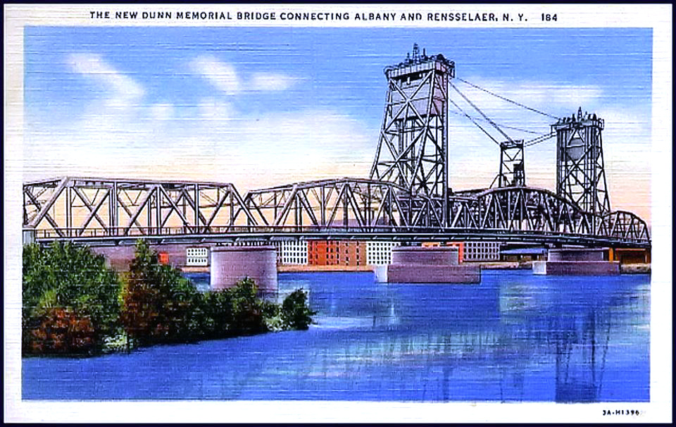 post card of old Dunn Memorial Bridge
