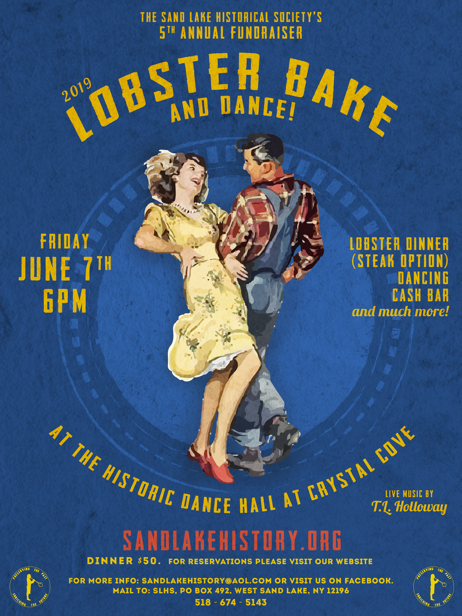 2019 lobster bake and dance poster