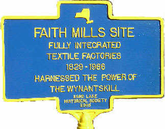 Historical marker for Sand Lake Baptist Church.