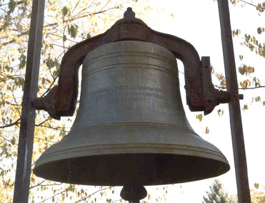 closeup of Salem United Methodist Church bell